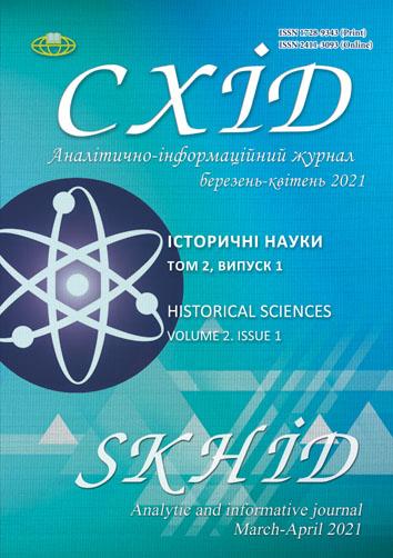 View No. 2(1) (2021): Historical sciences